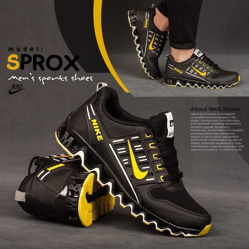 کفش مردانه nike مدل sprox (زرد)