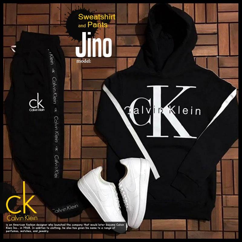 ست سویشرت و شلوار ck مدل Jino
