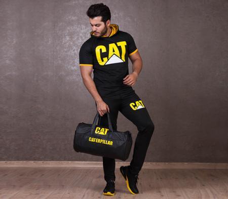 پکیج ست تیشرت وشلوار و ساک ورزشی Cat