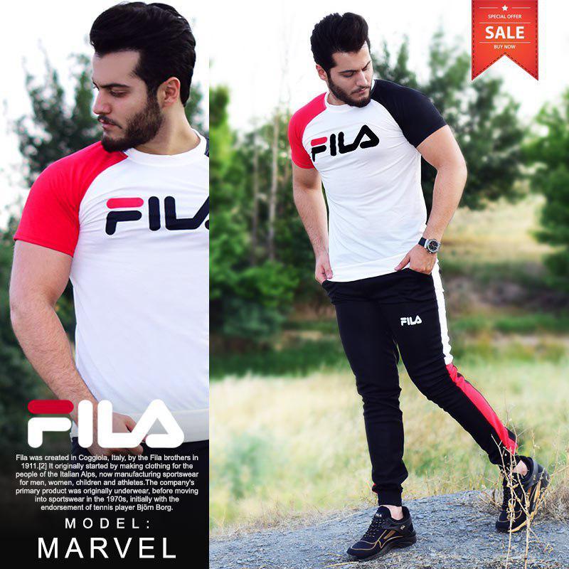 ست تیشرت و شلوار Fila مدل Marvel