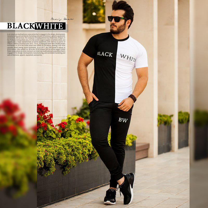 ست تیشرت و شلوار black white
