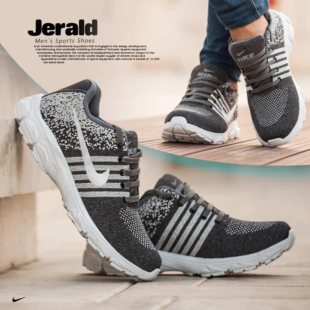 کفش مردانه Nike مدل Jerald (طوسی)