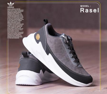 کفش مردانه Adidas مدل Rasel (طوسی)