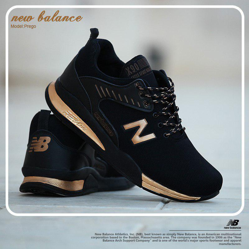 کفش مردانه New balance مدل prego (طلایی)