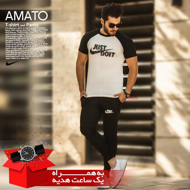 ست تیشرت و شلوار Nike مدل Amato+ساعت هدیه