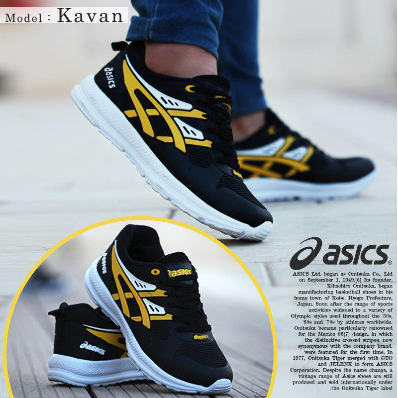کفش مردانه Asics مدل  Kavan (زرد)