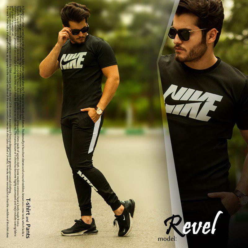 ست تیشرت و شلوار Nike مدل Revel(مشکی)