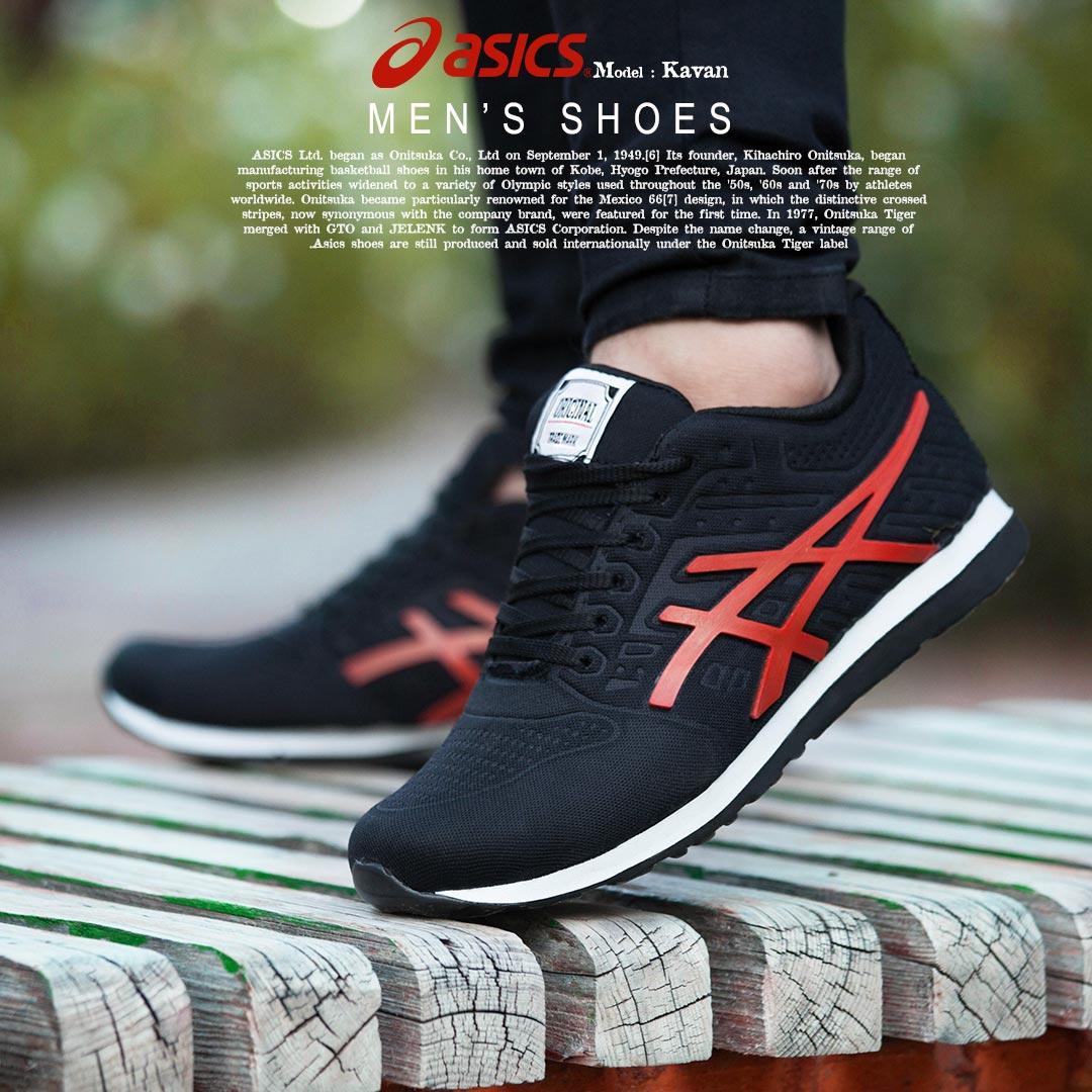 کفش مردانه Asics مدل  Kavan (قرمز)