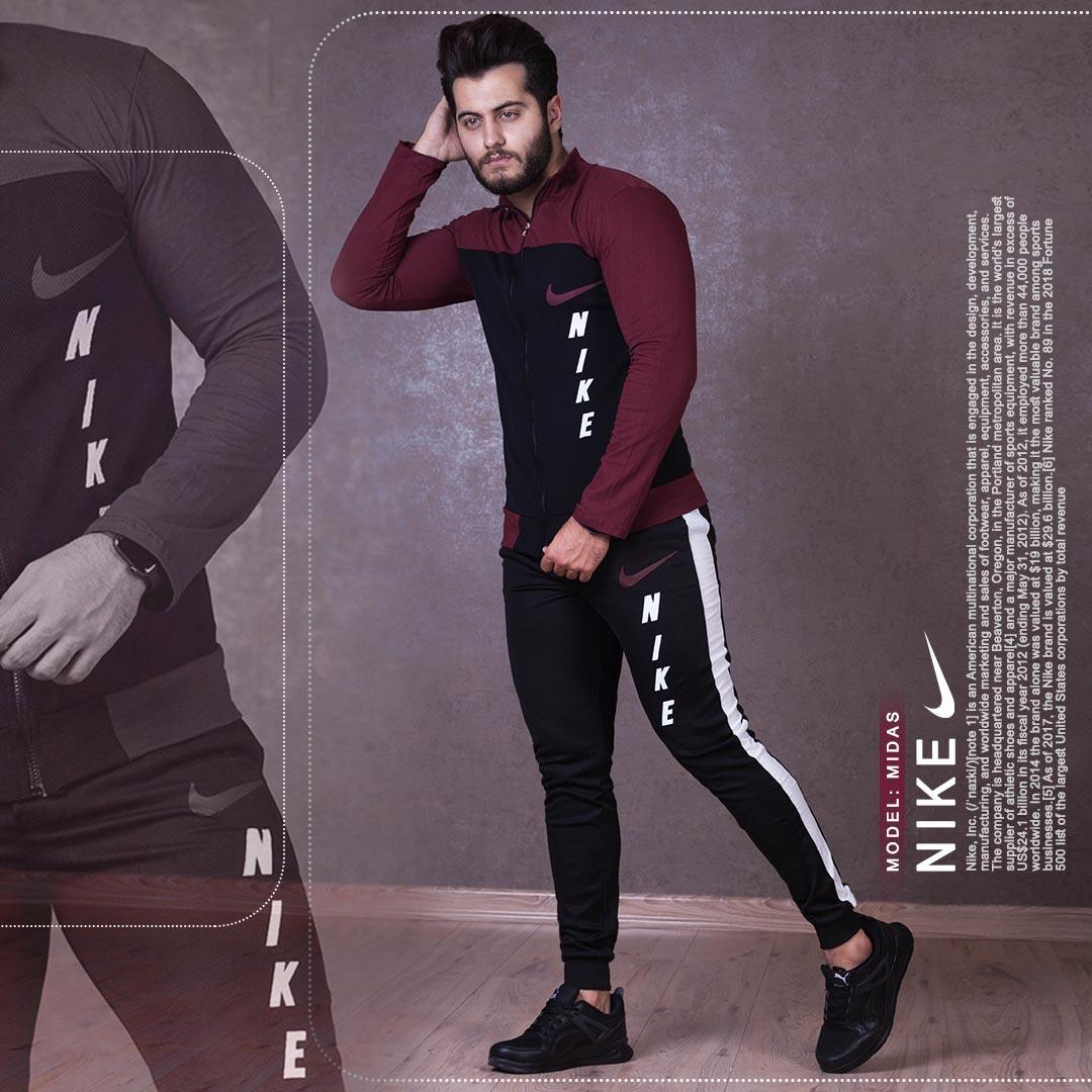 ست سویشرت وشلوار مردانه Nike مدل Midas (زرشکی)
