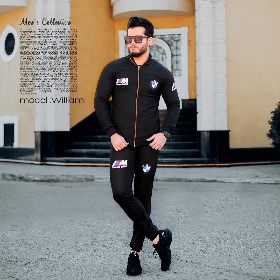 ست سویشرت و شلوار مردانه BMW مدل William