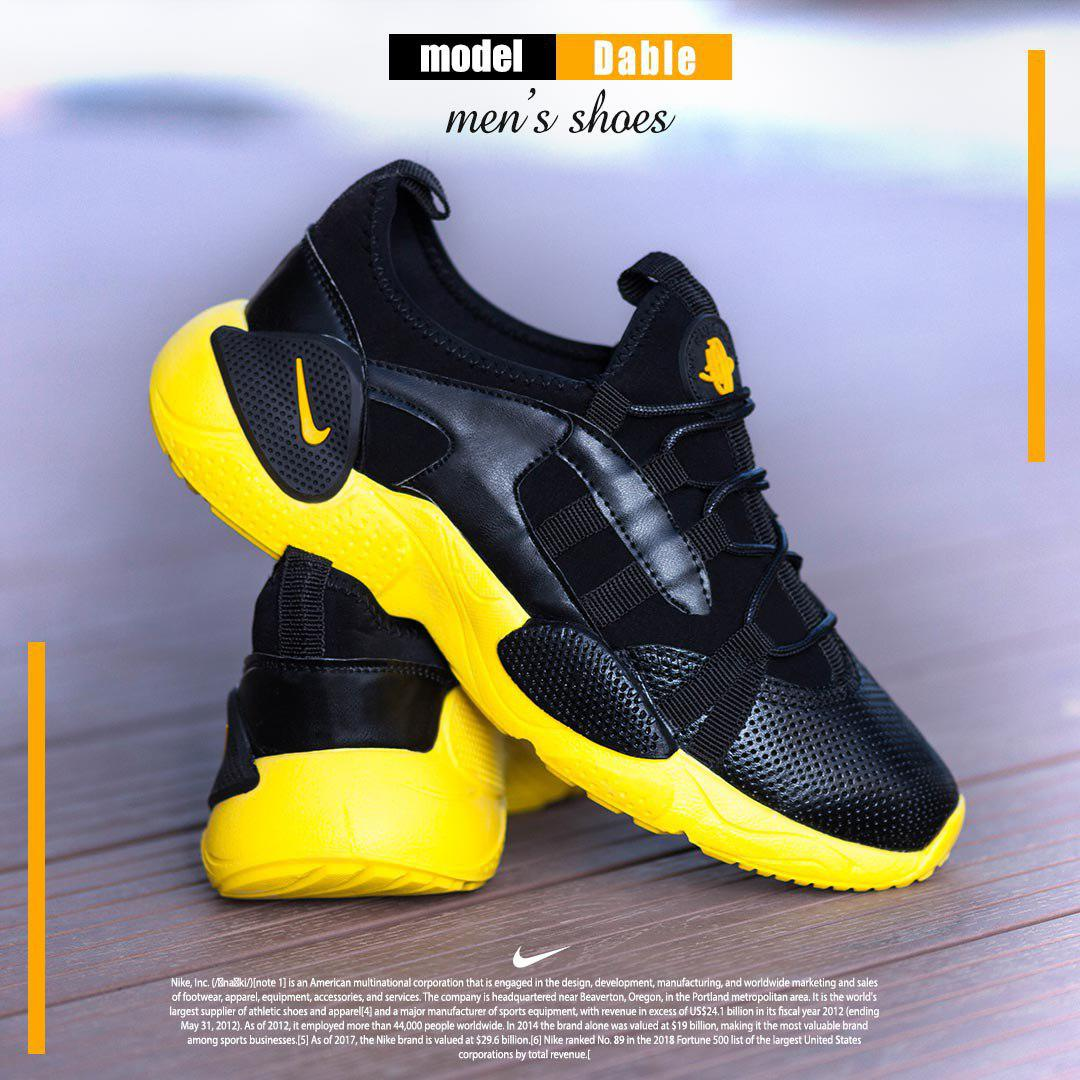 کفش مردانه Nike مدل Dable(مشکی زرد)