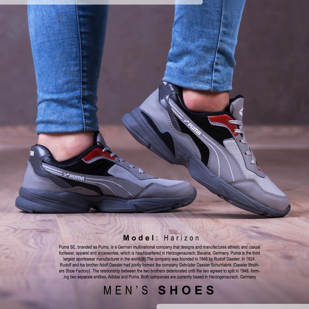 کفش مردانه PUMAمدل harizon (طوسی)
