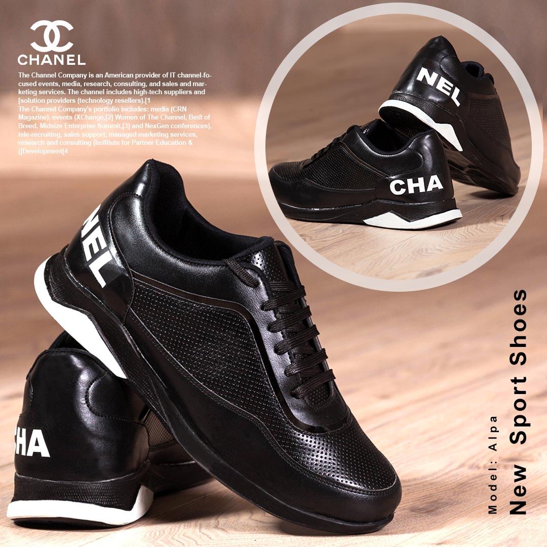 کفش مردانه Chanel مدل Alpa (مشکی تمام)
