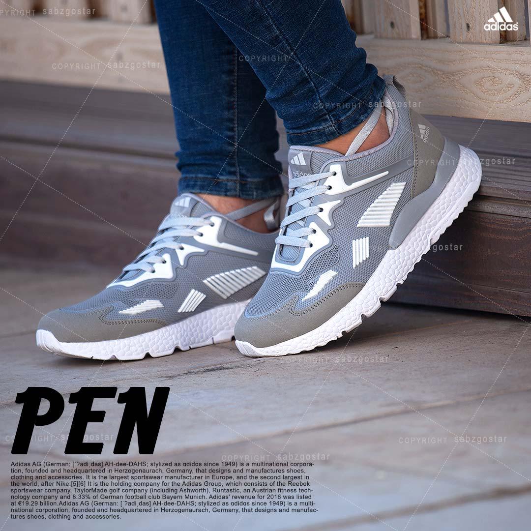 کفش مردانه Adidas مدل Pen (طوسی)