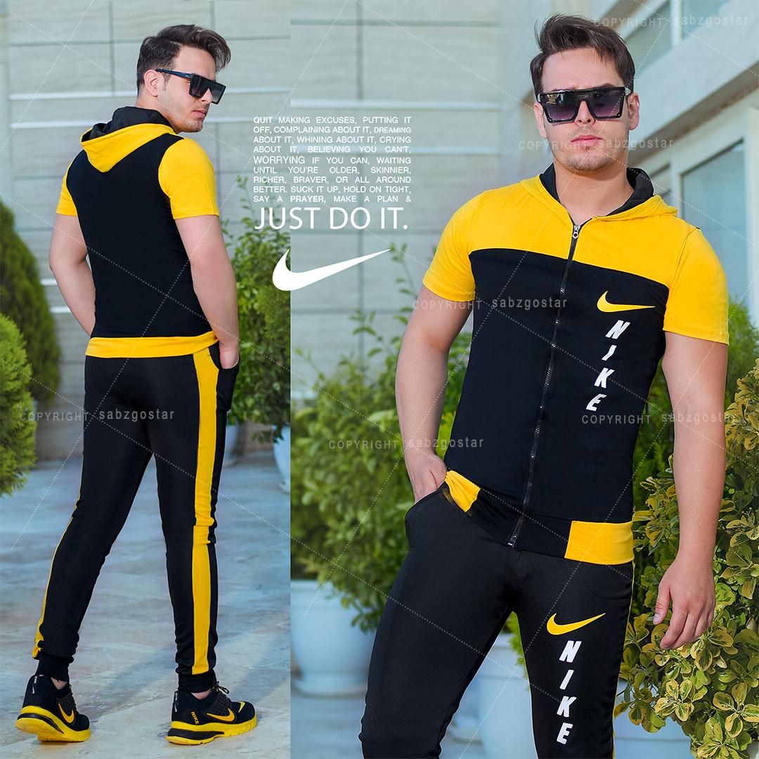 ست تیشرت وشلوار مردانه Nike مدل Magic (زرد)