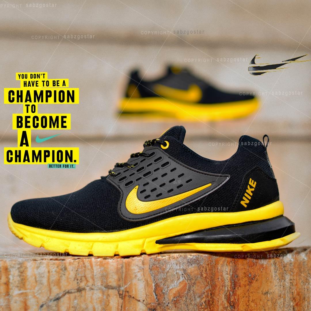 کفش مردانه Nike مدل Lixo(مشکی زرد)