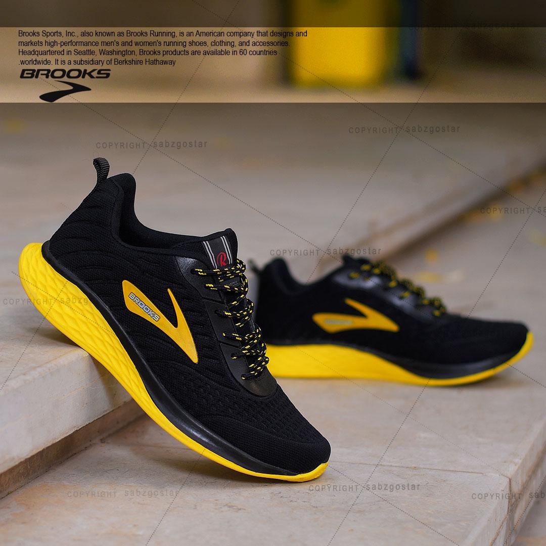 کفش مردانه Brooks مدل Soula (زرد)