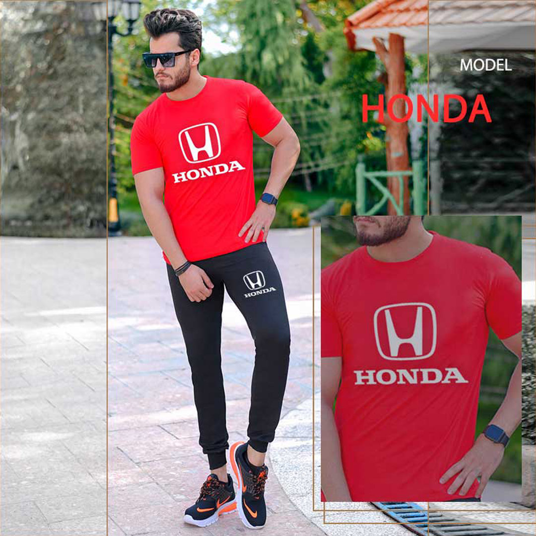 ست تیشرت و شلوار مردانه Honda مدل Borna