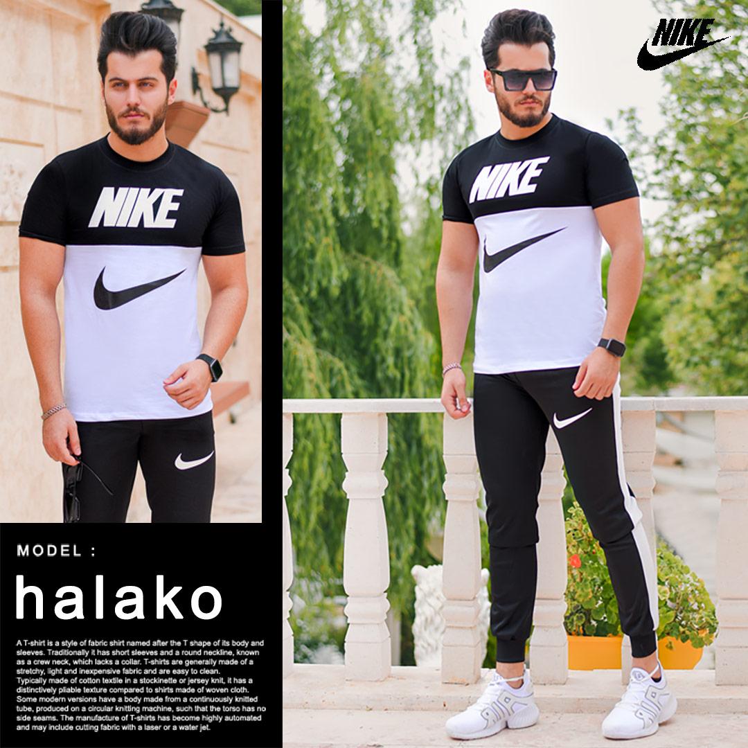 ست تیشرت وشلوار Nike مدل Halako (سفید)