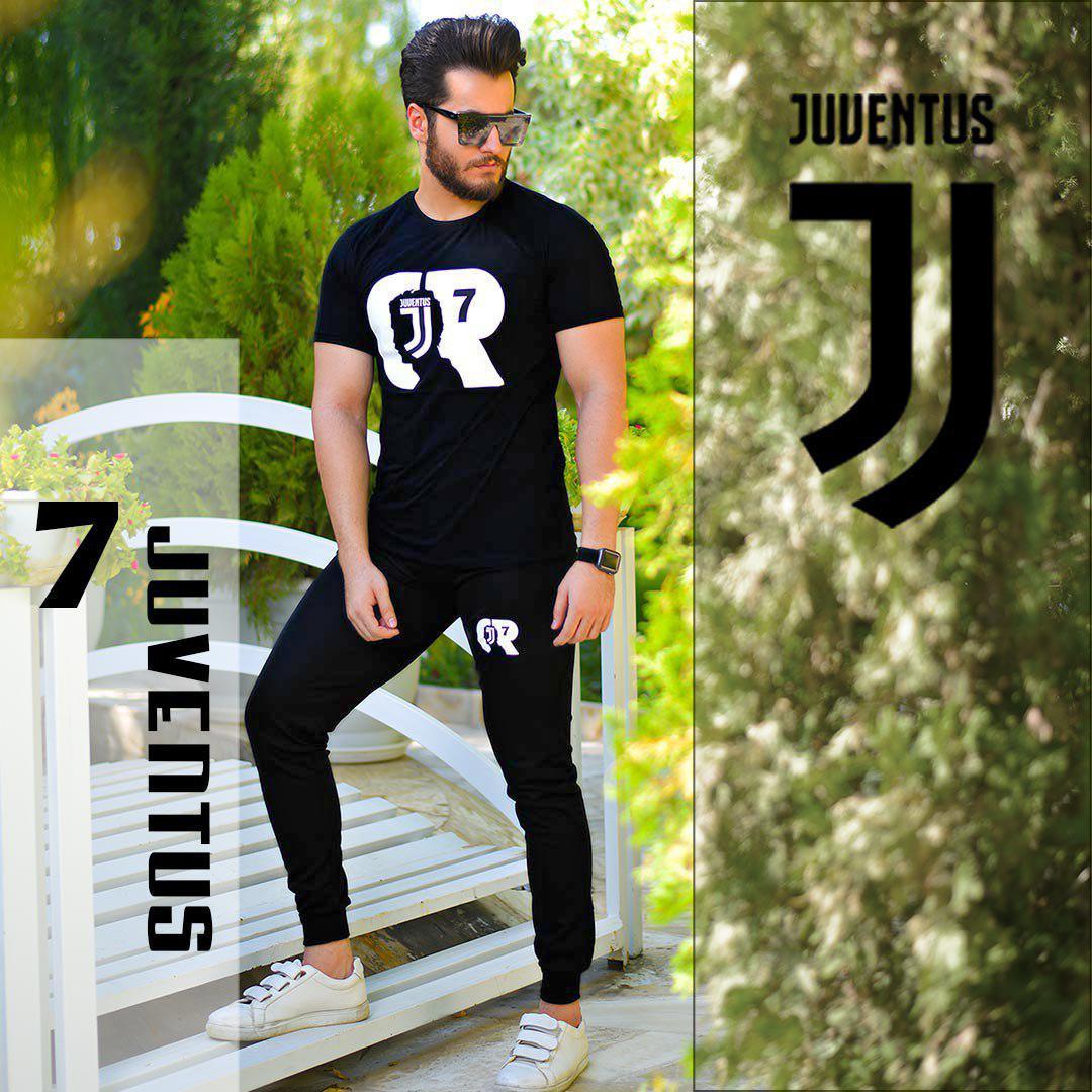 ست تیشرت وشلوار مردانه Cr7 مدل Juventus (مشکی)