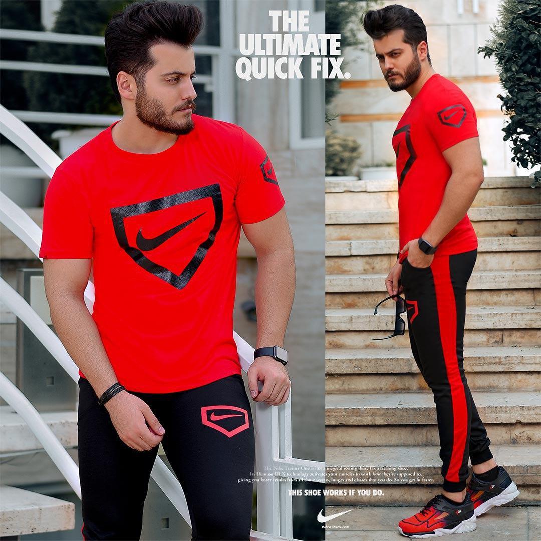ست تیشرت و شلوار Nike مدل Hunter(قرمز)