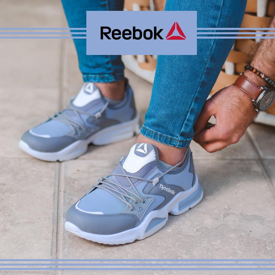 کفش مردانه Rebook مدل RK (طوسی)