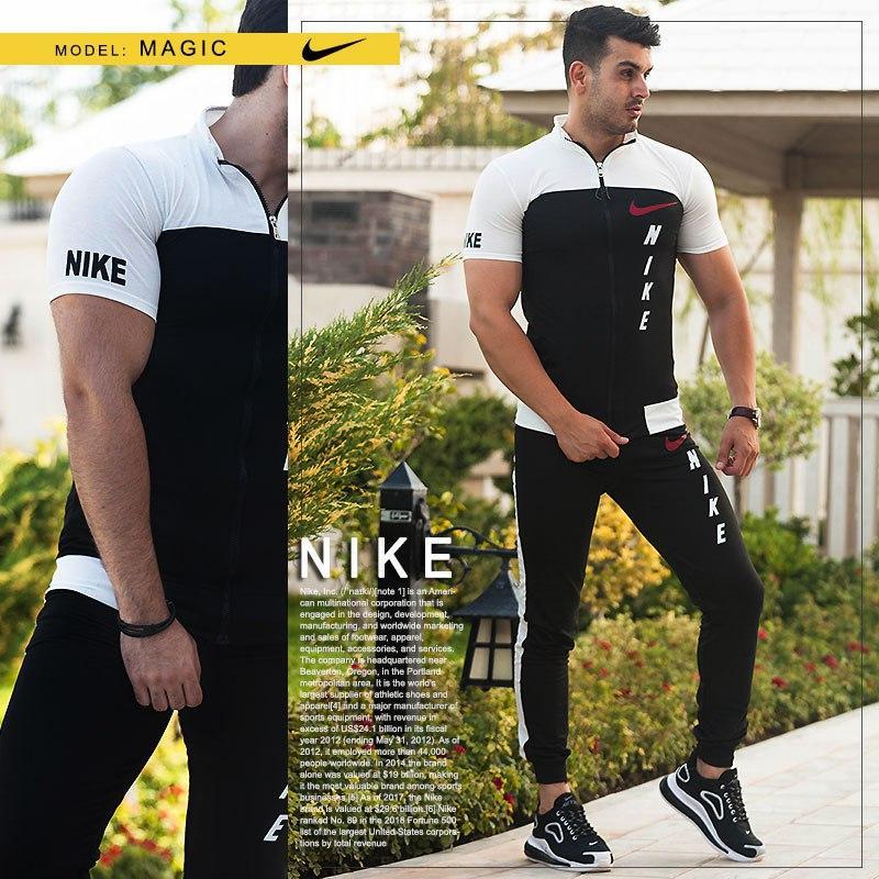 ست تیشرت وشلوار مردانه Nike مدل Magic (سفید)