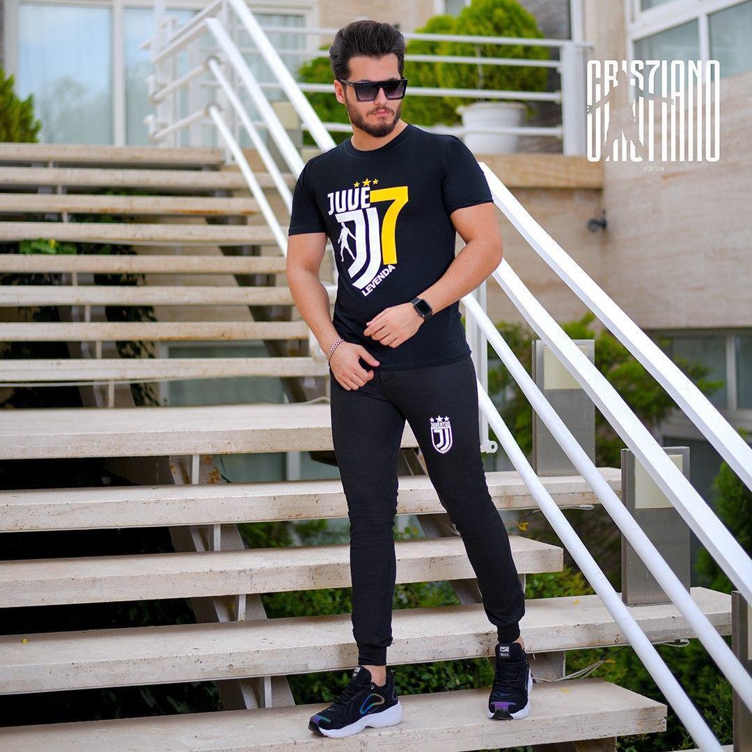 ست تیشرت و شلوار مردانه Juventus مدل Demik