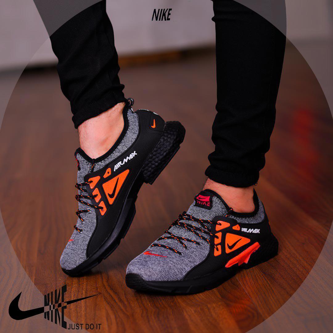 کفش مردانه Nike مدل Tibo (طوسی،نارنجی)