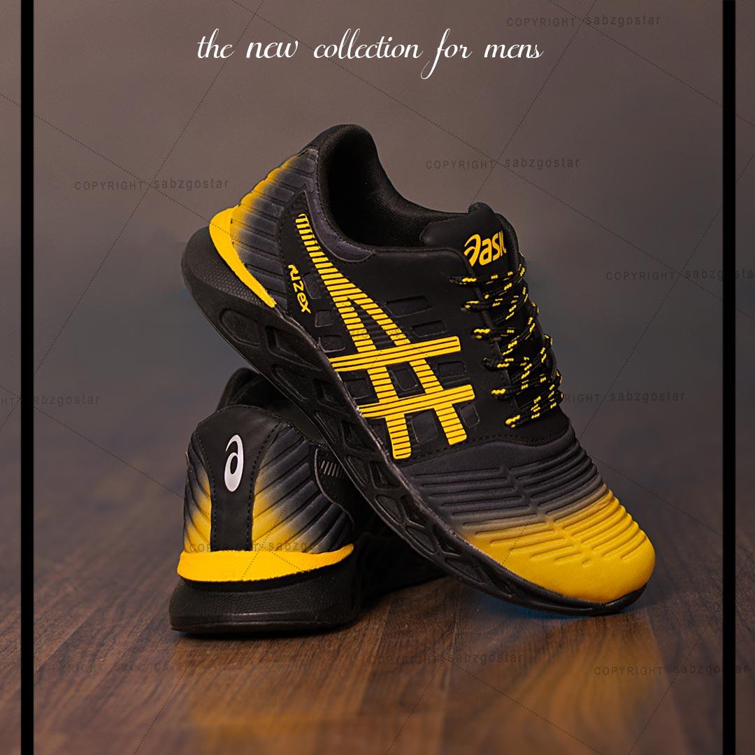 کفش مردانه Asics مدل Fuzex (مشکی،زرد)