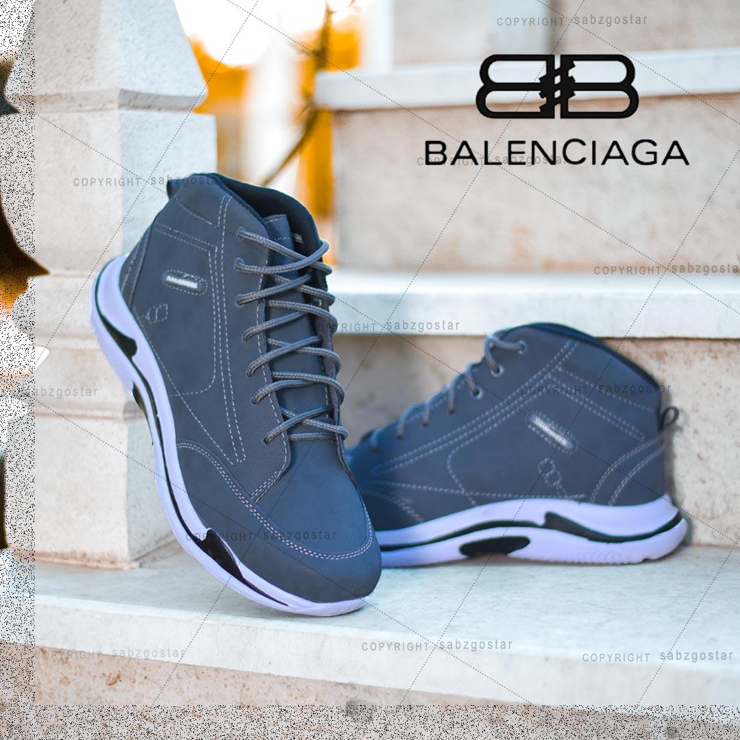 کفش ساقدار Balenciaga مدل Hoka (طوسی)