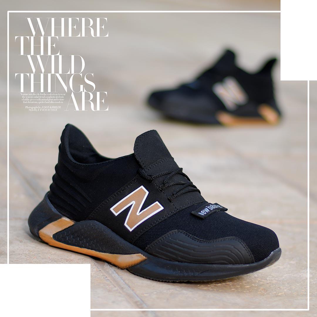 کفش مردانه NewBalance مدل WinSon (مشکی.طلایی)