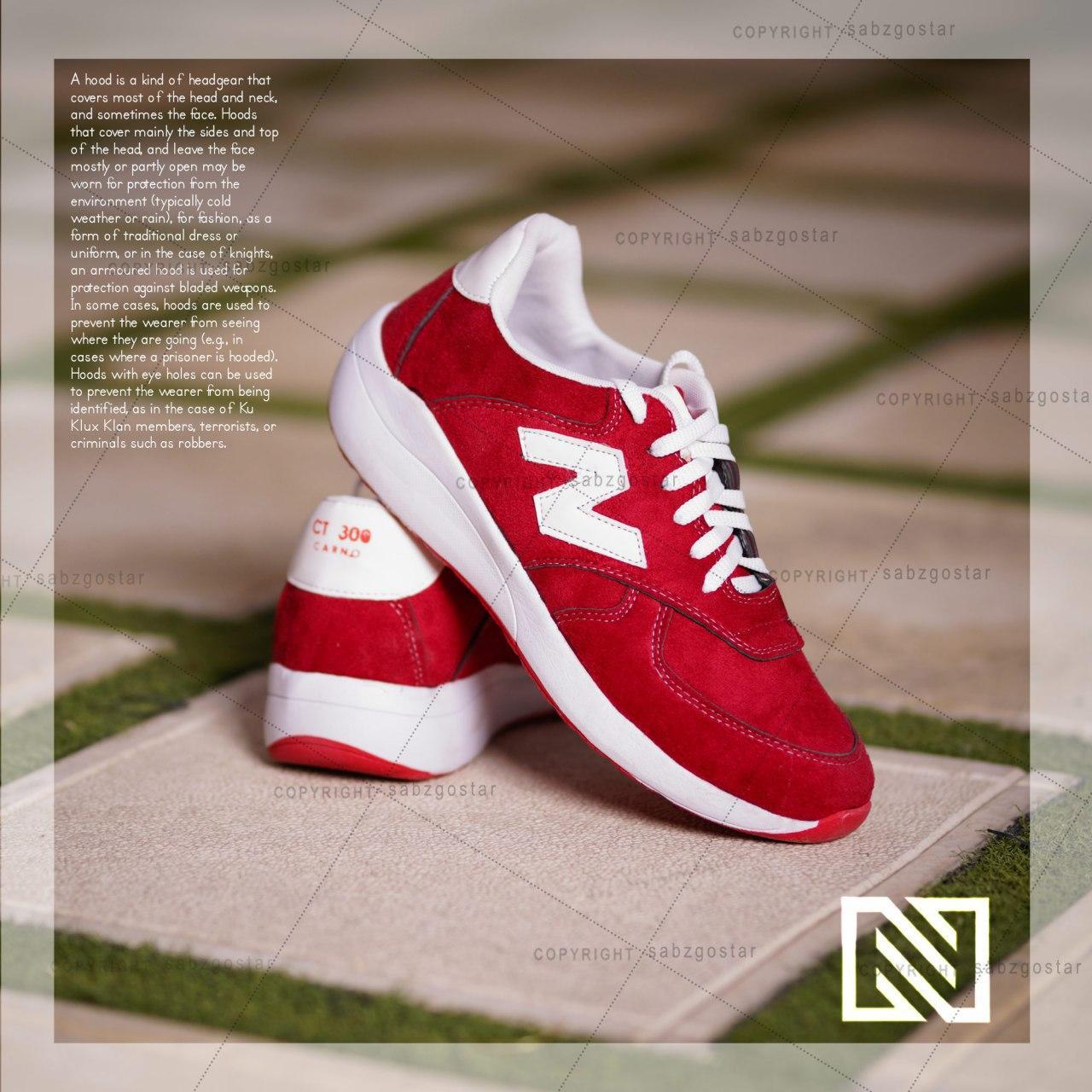کفش مردانه New Balanc مدل Karno(زرشکی)