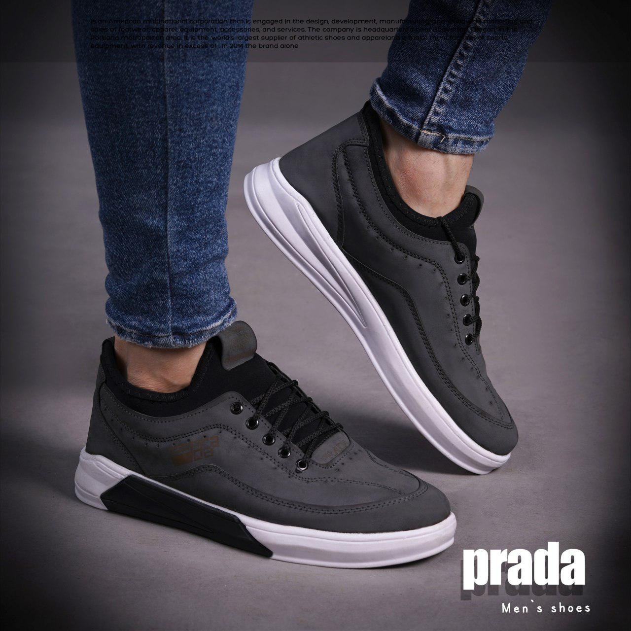 کفش مردانه PRADA مدل Zaff( طوسی)