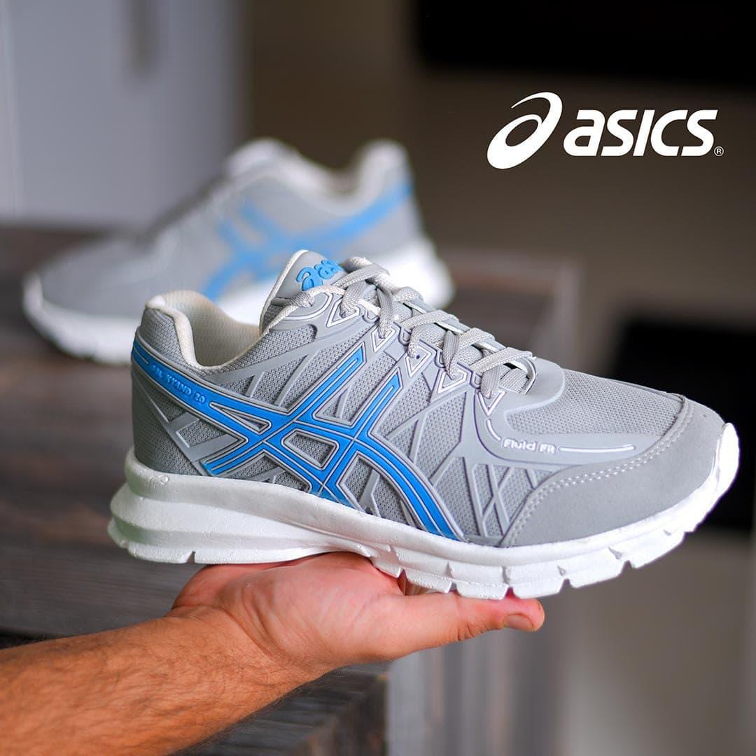 کفش مردانه Asics مدل Wins (طوسی)