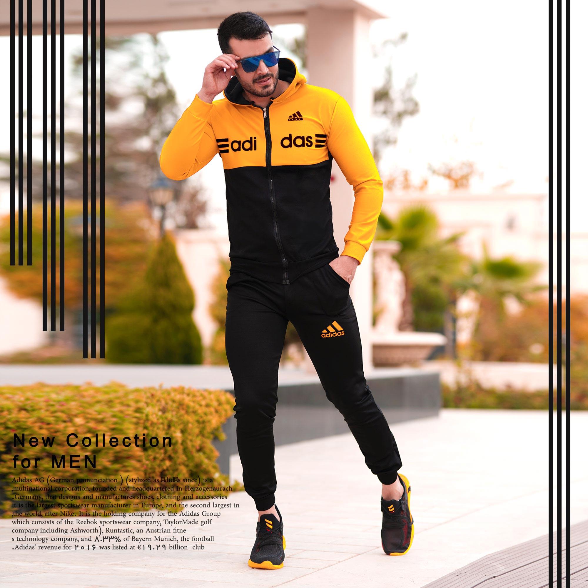 ست سویشرت وشلوار adidas مدل Himan (زرد)