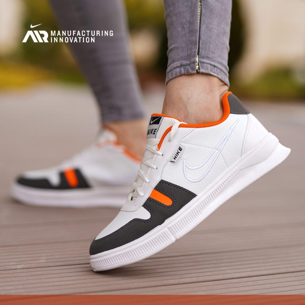 کفش مردانه Ernest ( سفید نارنجی)