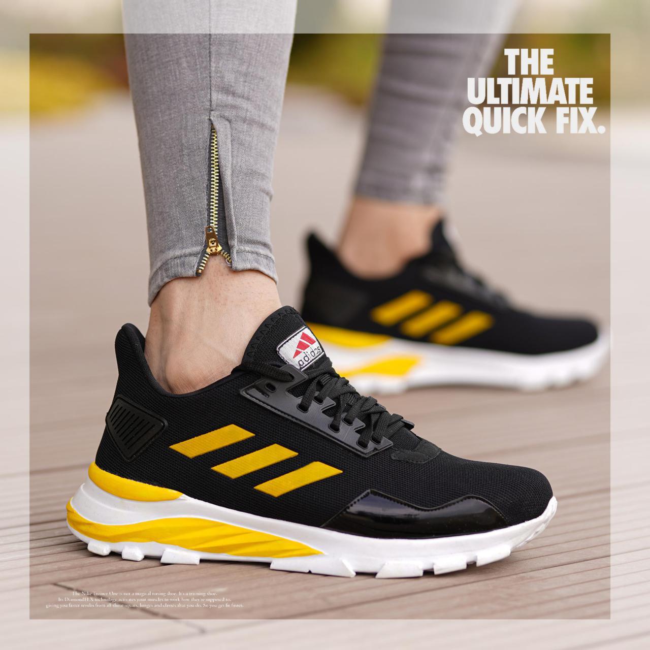 کفش adidas مدل N33(مشکی زرد)