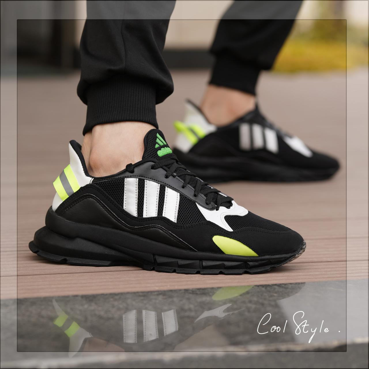 کفش مردانه koba (مشکی نقره ای)