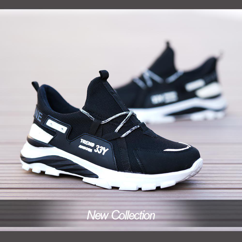 کفش مردانه مدل Y33(مشکی سفید)