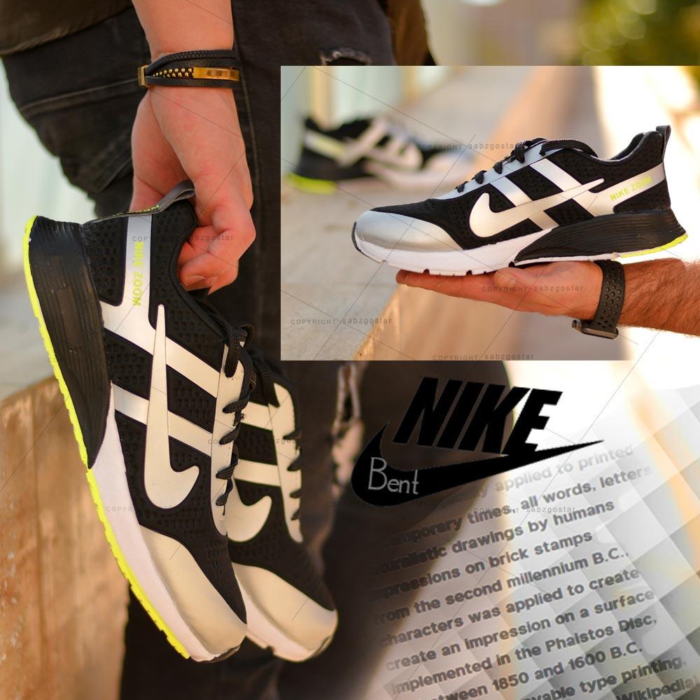 عکس محصول کفش مردانه Nikeمدل Bent (مشکی طوسی)
