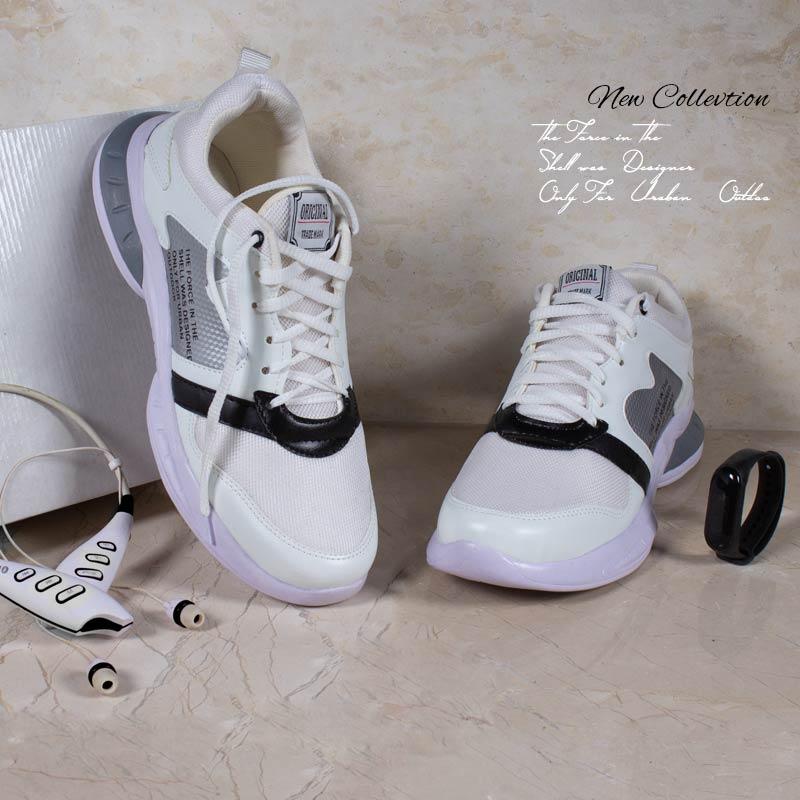عکس محصول کفش مردانه Rise ( سفید نقره ای )