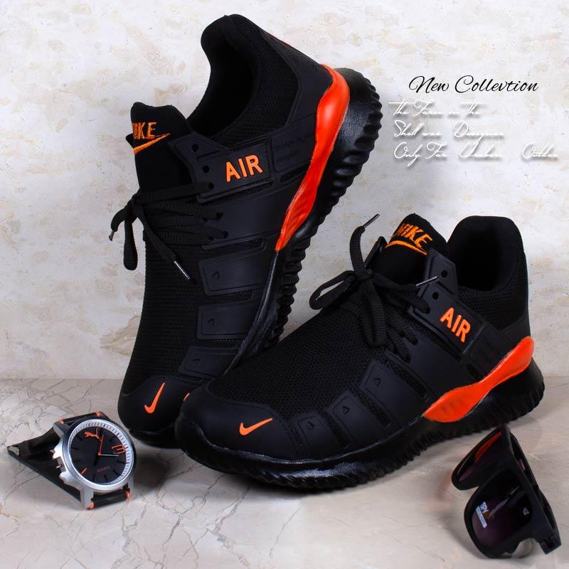 عکس محصول کفش مردانه Nike مدل  Air2021(مشکی نارنجی)