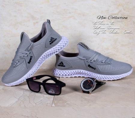 کفش مردانه Adidas مدل heps (طوسی)