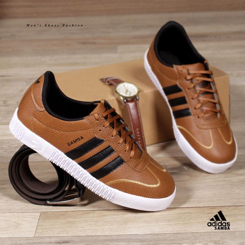 کفش مردانه adidasمدل SAMBA(عسلی)