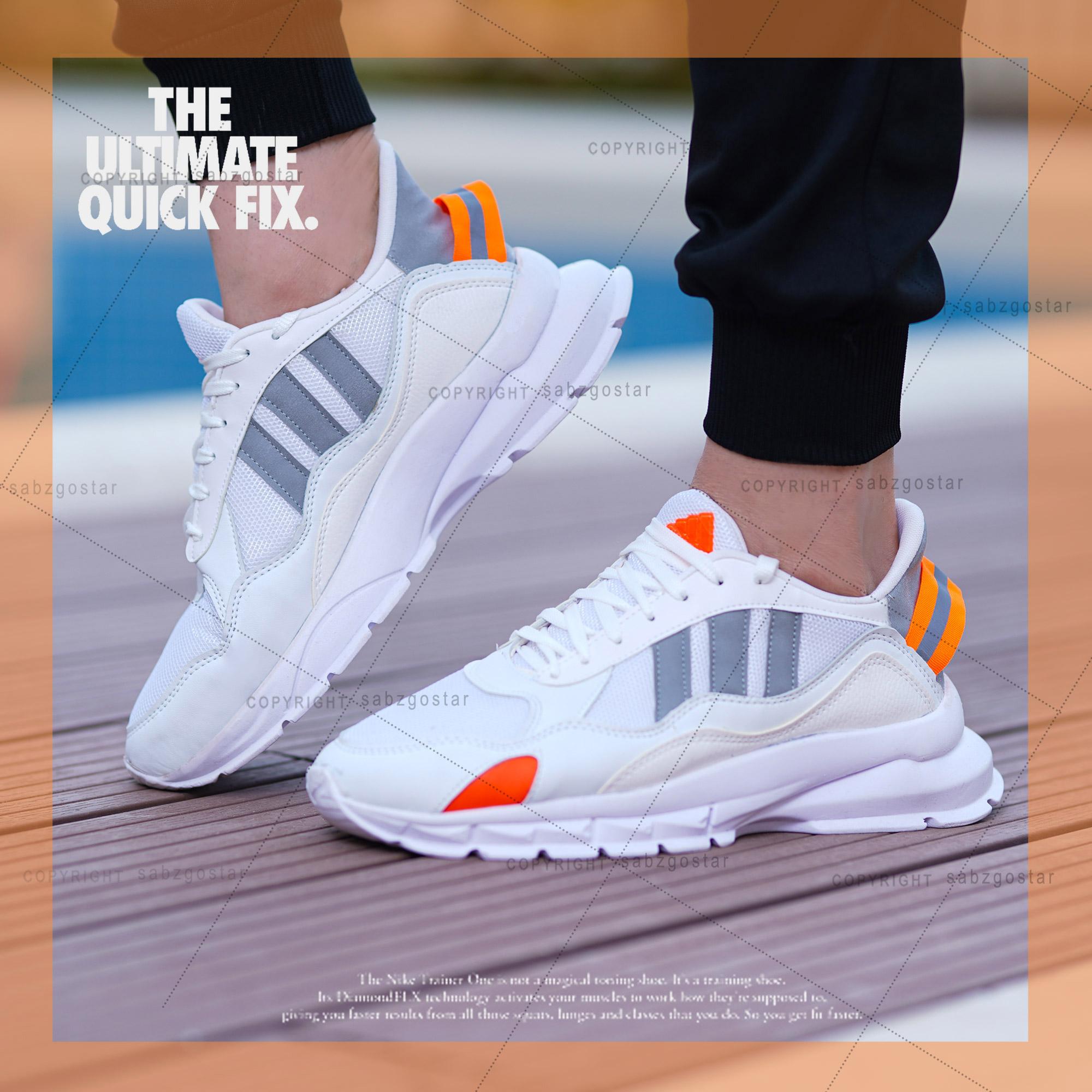 کفش مردانه koba (سفید طوسی)