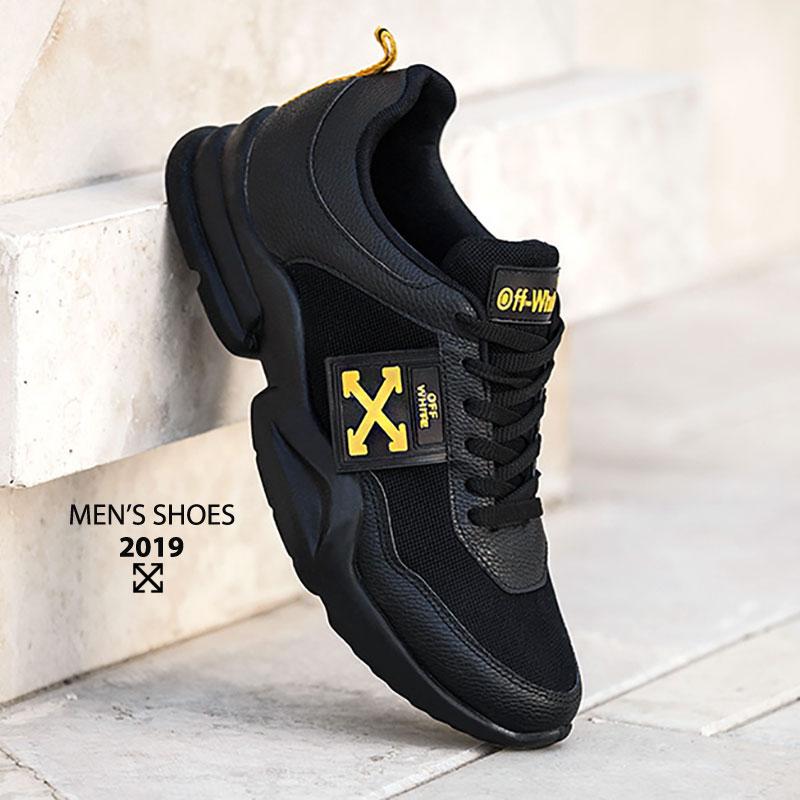 کفش مردانه مدل Off white (مشکی)