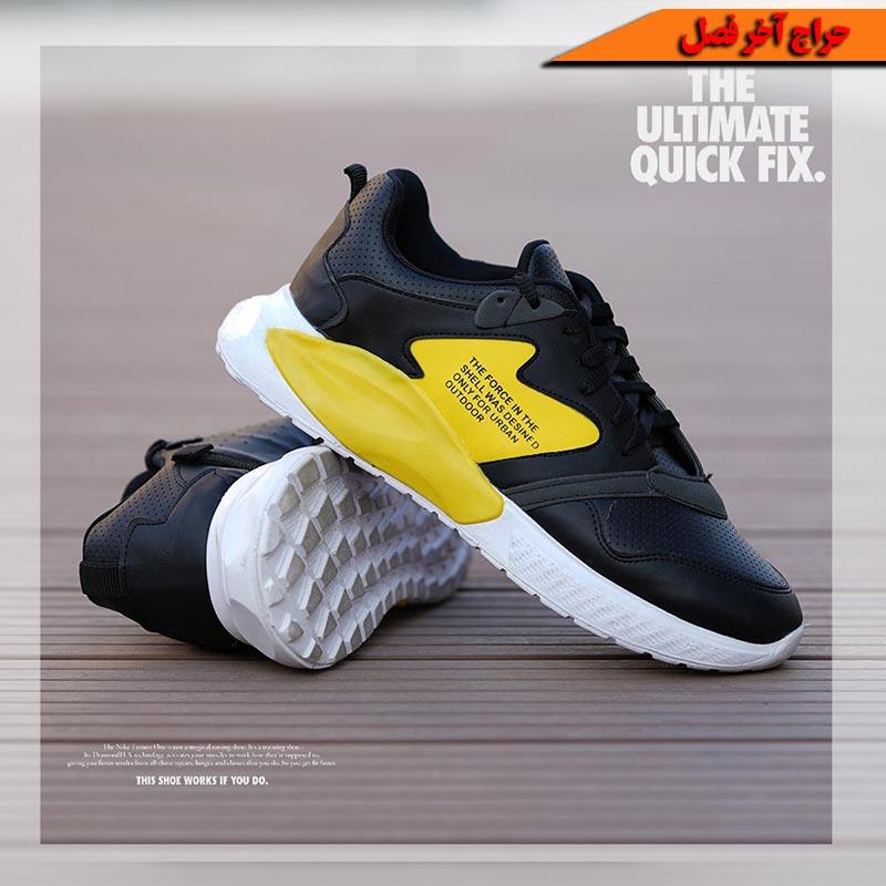 کفش مردانه shel (مشکی زرد)