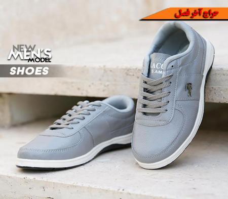 کفش مردانه Lacoste مدل picaso (طوسی)