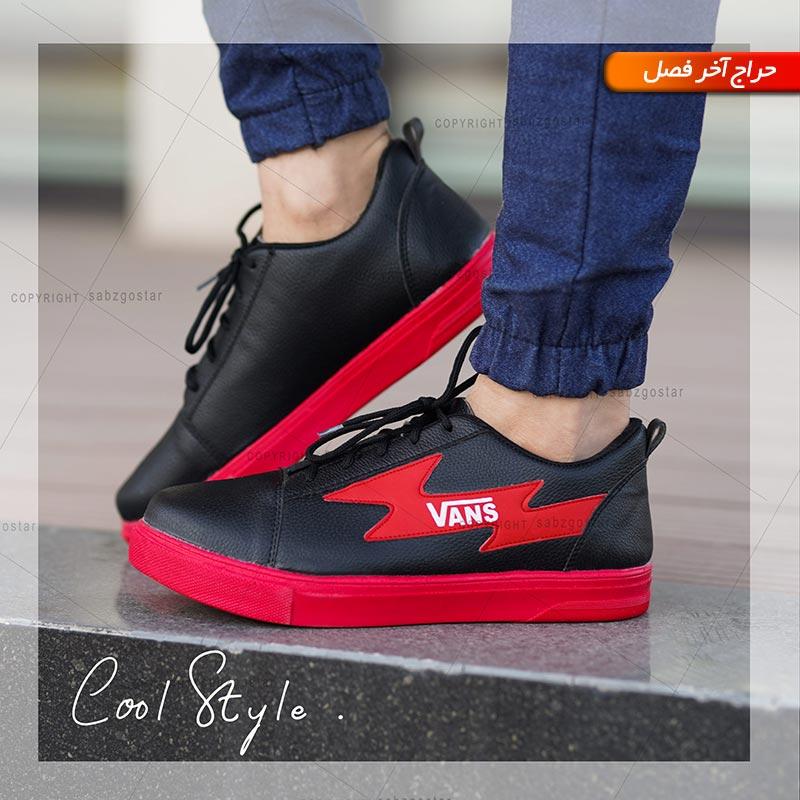 کفش مردانه Vans(مشکی،قرمز)
